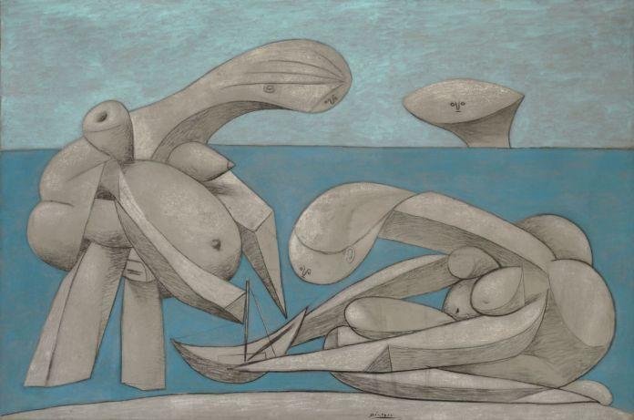 Sulla-spiaggia-La-Baignade12-febbraio-1937.-Collezione-Peggy-Guggenheim-Venezia