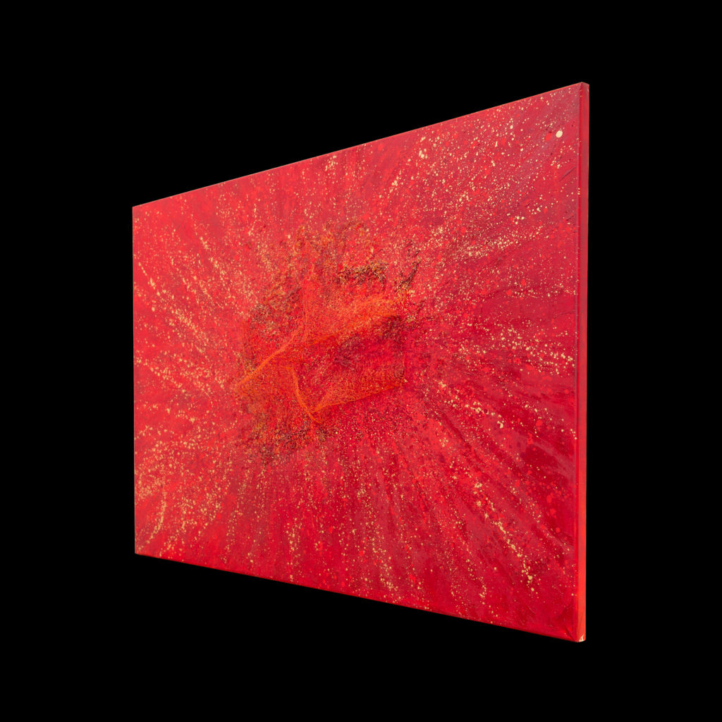 Caterina Varchetta, From the core, 140 X 100 cm, tecnica mista, acrilico, cristalli, 2018-17